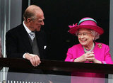Prince Philip watched his wife during the 2008 derby.