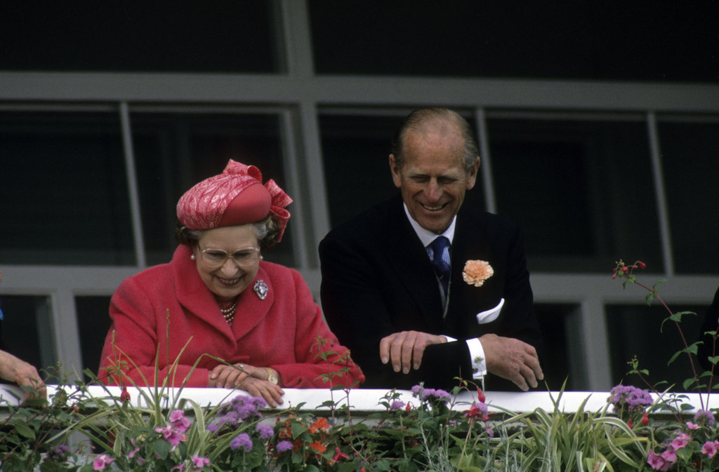 Queen Elizabeth II and her husband watched the events from up above in 1989.