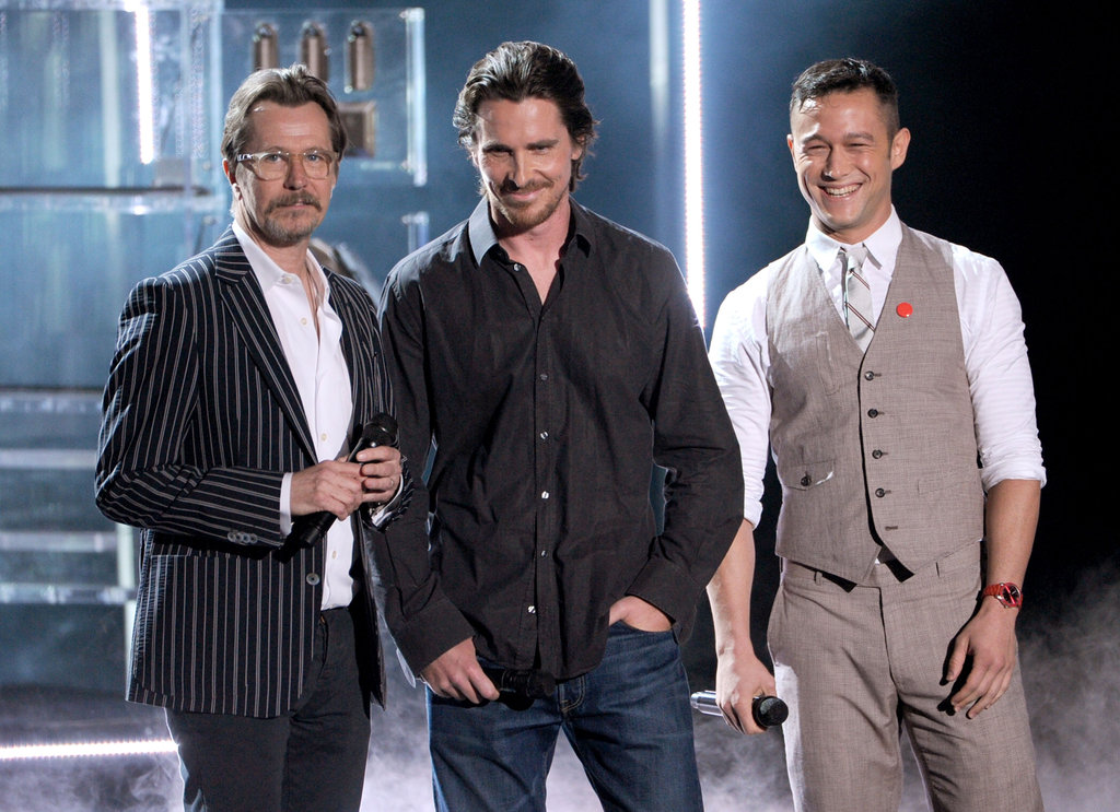 Gary Oldman, Christian Bale, and Joseph Gordon-Levitt