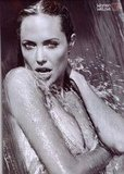 Angelina Jolie didn't mind getting wet for her November 2004 Esquire photo spread.