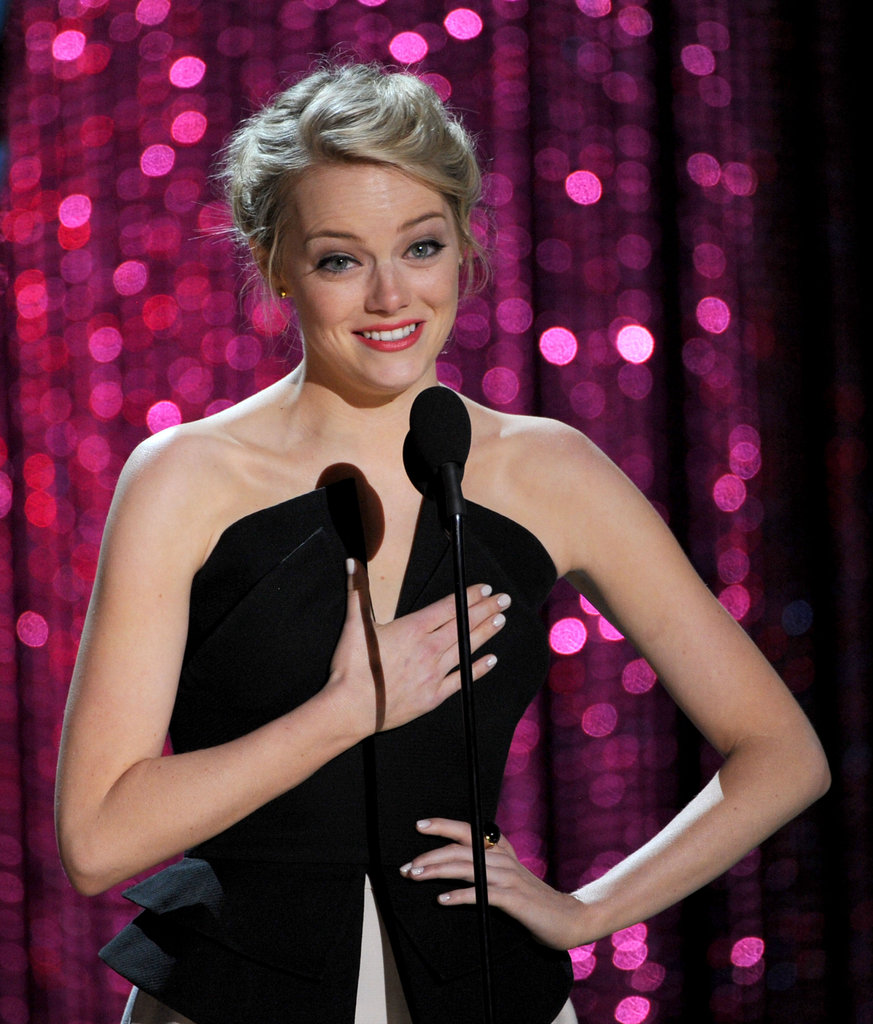 Emma Stone gave a heartfelt thank-you to MTV and her fans.