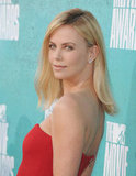 Charlize Theron rocked a red dress at the MTV Movie Awards.