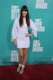 Jessica Biel wore white to the 2012 MTV Movie Awards.