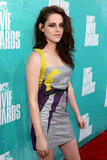 Kristen Stewart stepped onto the red carpet at the MTV Movie Awards.