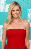 Charlize Theron lit up the red carpet in red.