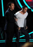 Channing Tatum and Matthew McConaughey joked around on stage.