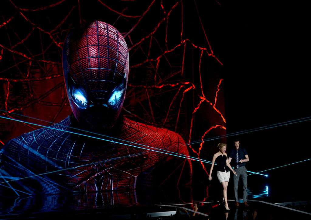 Emma Stone and Andrew Garfield promoted their Summer flick, The Amazing Spider-Man.