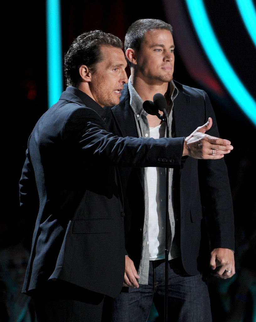 Matthew McConaughey shared the spotlight with his Magic Mike costar Channing Tatum.