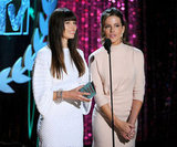 Lovely ladies Jessica Biel and Kate Beckinsale handed out an award.