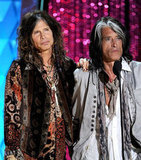 Steven Tyler and Joe Perry honoured their friend Johnny Depp.