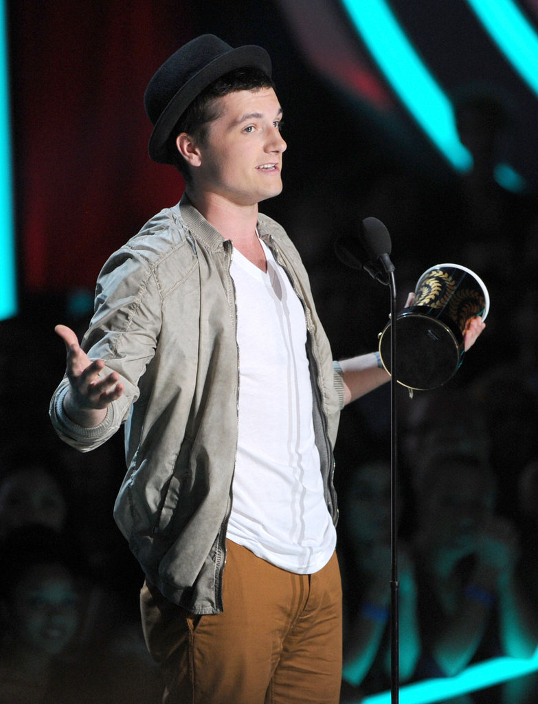 Josh Hutcherson thanked fans during his speech.