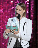 Jodie Foster announced the winner.