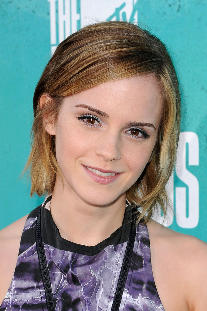 Emma Watson smiled at the MTV Movie Awards.