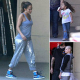 J Lo Perfects Her Dance Moves Under the Watchful Eyes of Casper and Emme