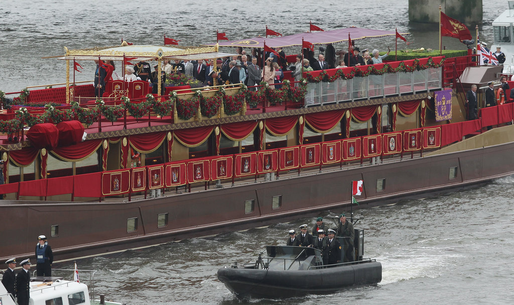 The royal barge made quite a presence.