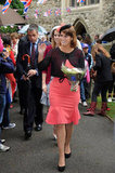 Princess Beatrice and Princess Eugenie attended the Big Jubilee Lunch, a street party that coincided with the Thames Diamond Jubilee Pageant.