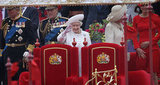 The queen celebrated the Thames Diamond Jubilee Pageant.