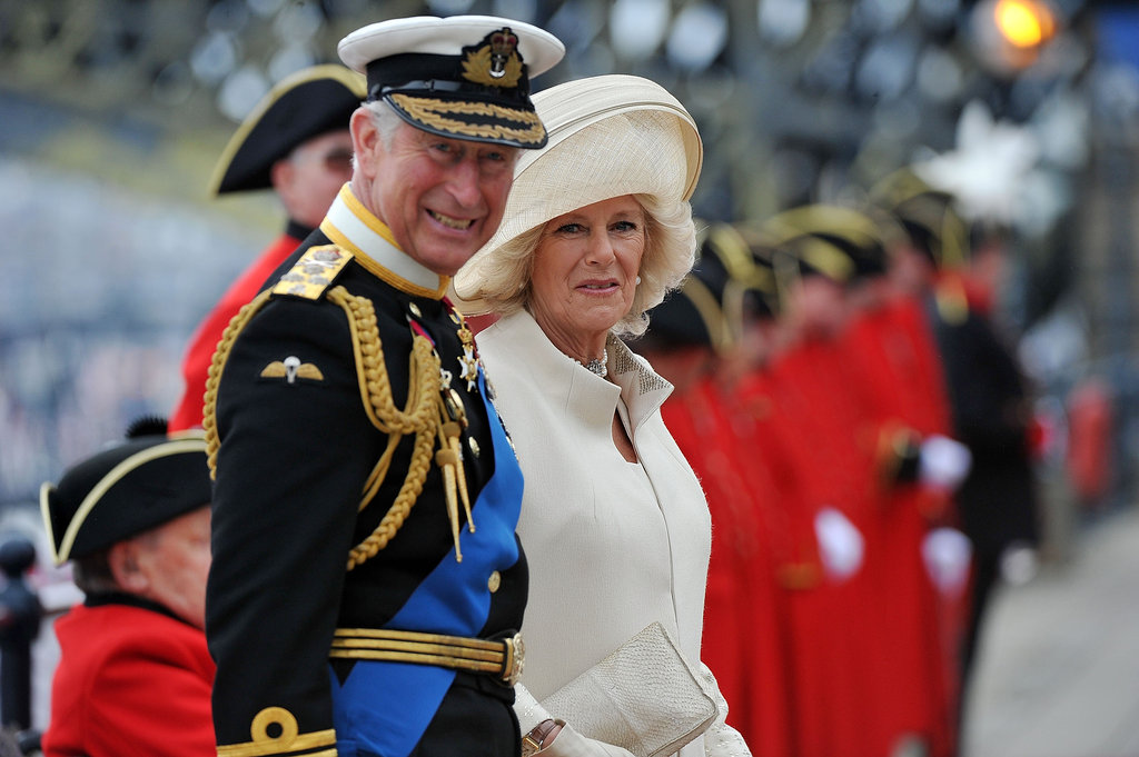 Prince Charles, prince of Wales, and Camilla, duchess of Cornwall, arrived at the pier.