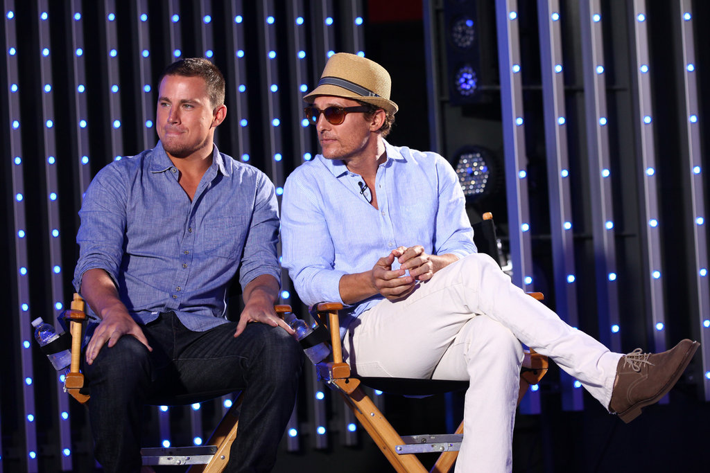 Channing Tatum and Matthew McConaughey talked candidly about their new film Magic Mike.