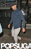 David Beckham had a night at the pub in London.