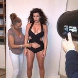 Kim Kardashian shared a pic from one of her many photo shoots.  Source: Instagram user kimkardashian