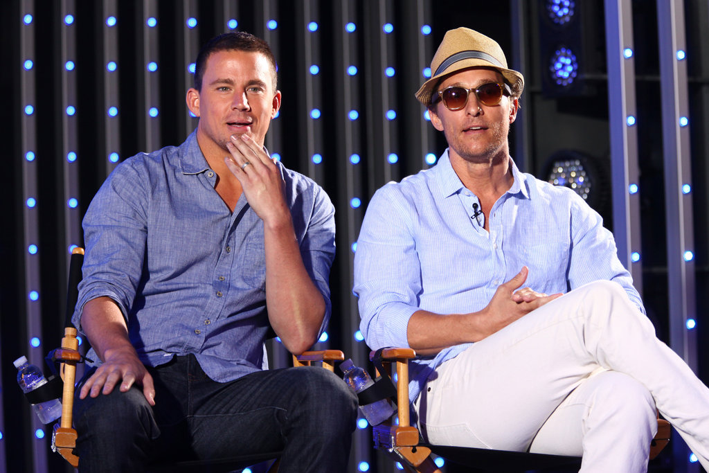 Channing Tatum and Matthew McConaughey talked freely about their dance moves and strip scenes for Magic Mike.