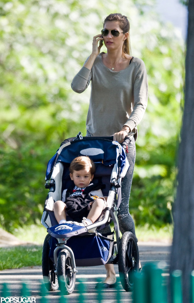 Gisele Bundchen took Ben to a Boston park.