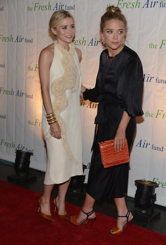 Mary-Kate Olsen and Ashley Olsen posed together at the Fresh Air Fund's Spring Gala in NYC.