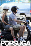 Olivia Wilde and Jason Sudeikis got close while riding a Vespa together in NYC.