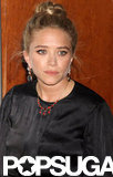 Mary-Kate Olsen wore a beaded necklace and black silk dress to the Fresh Air Fund's Spring Gala in NYC.