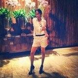 Designer Prabal Gurung captured a candid pic of his friend Zoe Saldana.  Source: Instagram user prabalgurung