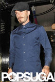 David Beckham was seen dining with friends at a pub in London.