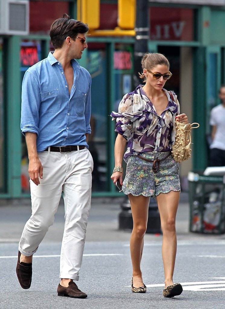 No one mixes fun prints like Olivia Palermo — this sweet Summer look is the proof.