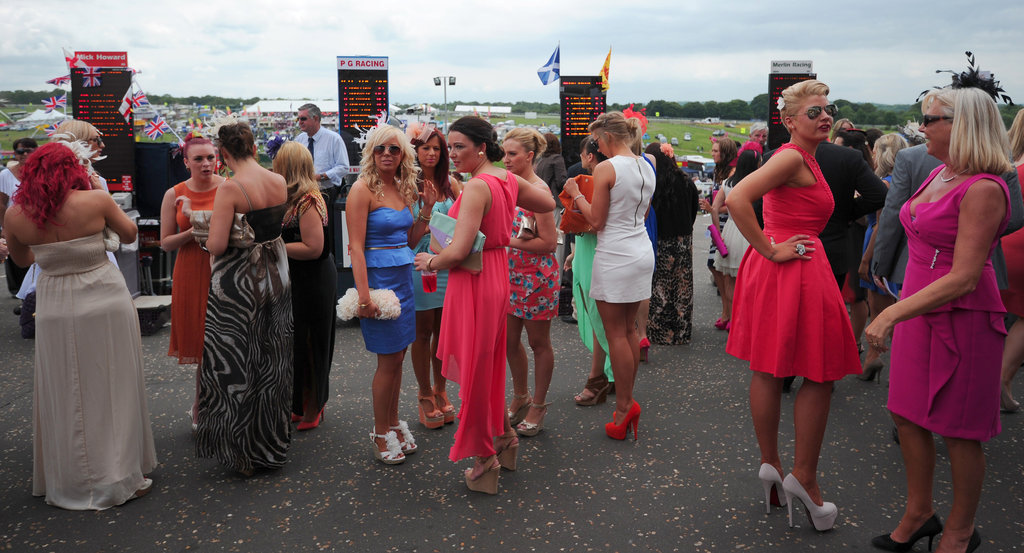 The women were in full force at the Epsom Derby's Ladies Day races.