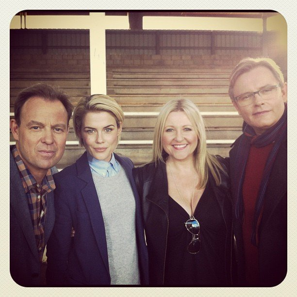 Angela Bishop interviewed Rachael Taylor on the set of I Will Survive, alongside judges Jason Donovan and Stephan Elliot. Source: Instagram user angelabishop10