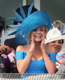 Katherine Jenkins rooted for her horse.