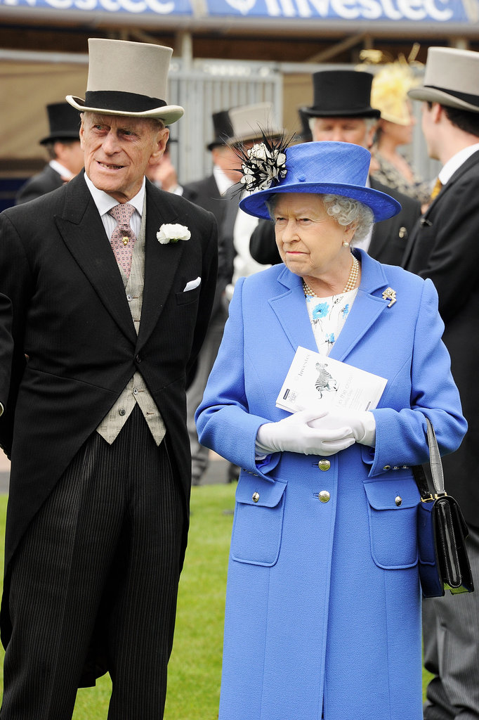 Queen Elizabeth and her husband Prince Phillip attended the Diamond Jubilee Derby.