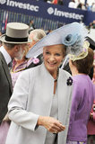 Princess Michael of Kent smiled at the derby.