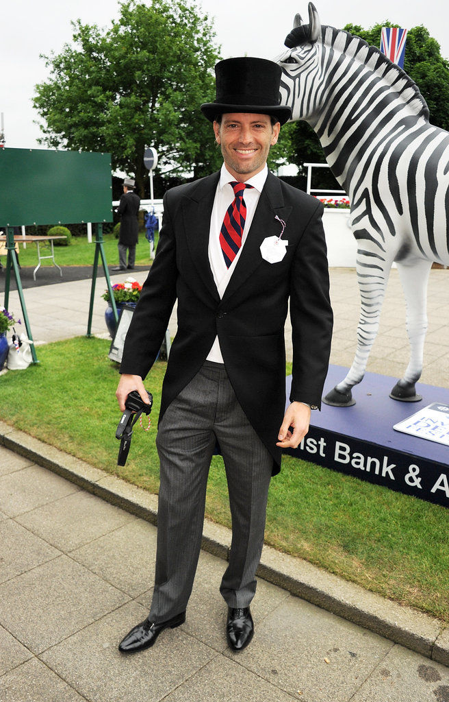 Louis Dowler posed at the derby.