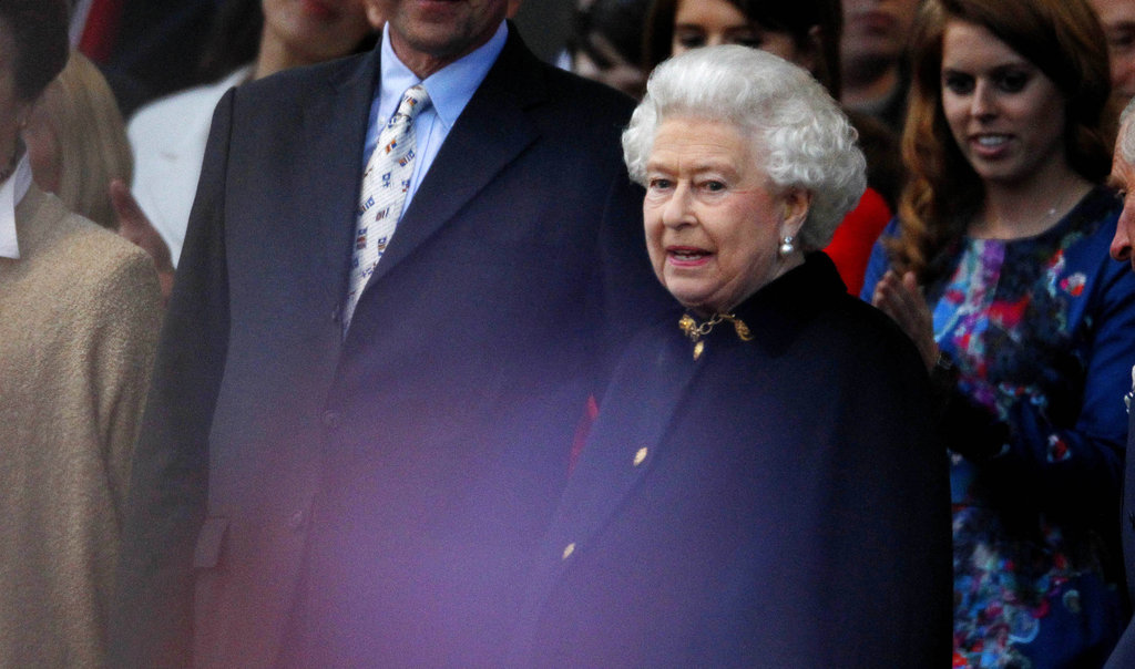Queen Elizabeth II watched performers at the Diamond Jubilee concert.