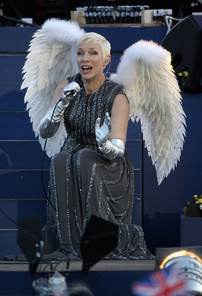 Annie Lennox sang at the Queen's Diamond Jubliee Concert in London.