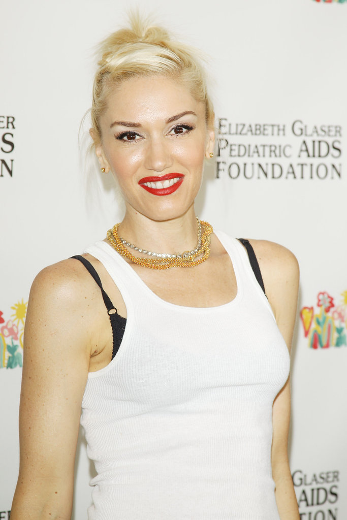 Gwen Stefani smiled at the annual A Time For Heroes Celebrity Picnic in LA.