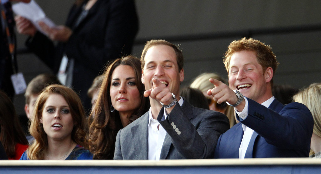 Prince William and Prince Harry pointed out something funny with Kate Middleton at the Diamond Jubilee concert in London.