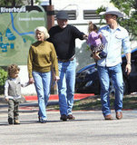 Matthew McConaughey and Camila Alves doted on youngsters Levi and Vida during a February 2012 trip to Texas.