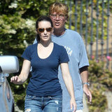 Kristin Davis Hits the Slides With Daughter, Gemma, and the Town With Aaron Sorkin