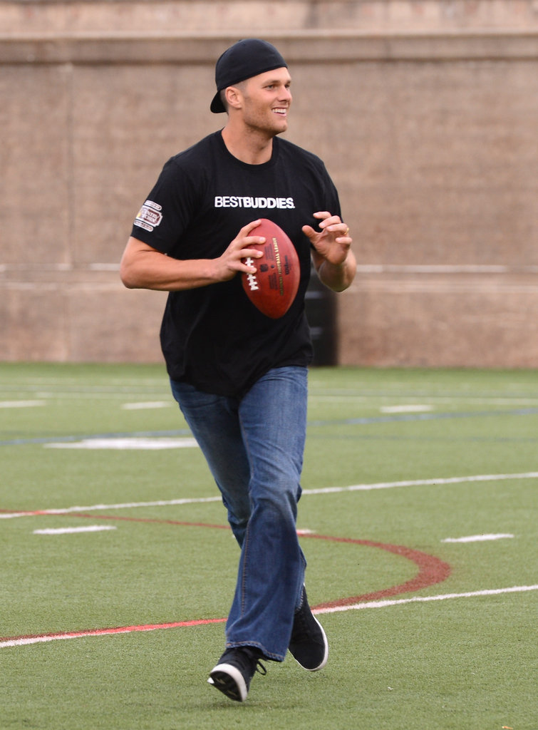 Tom Brady Hits the Field With His Best Buddies in Boston