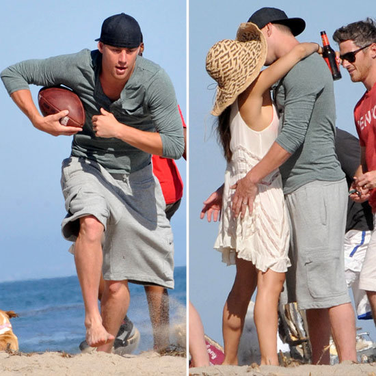 Channing Tatum and Jenna Dewan Kissing Beach Pictures | POPSUGAR ...