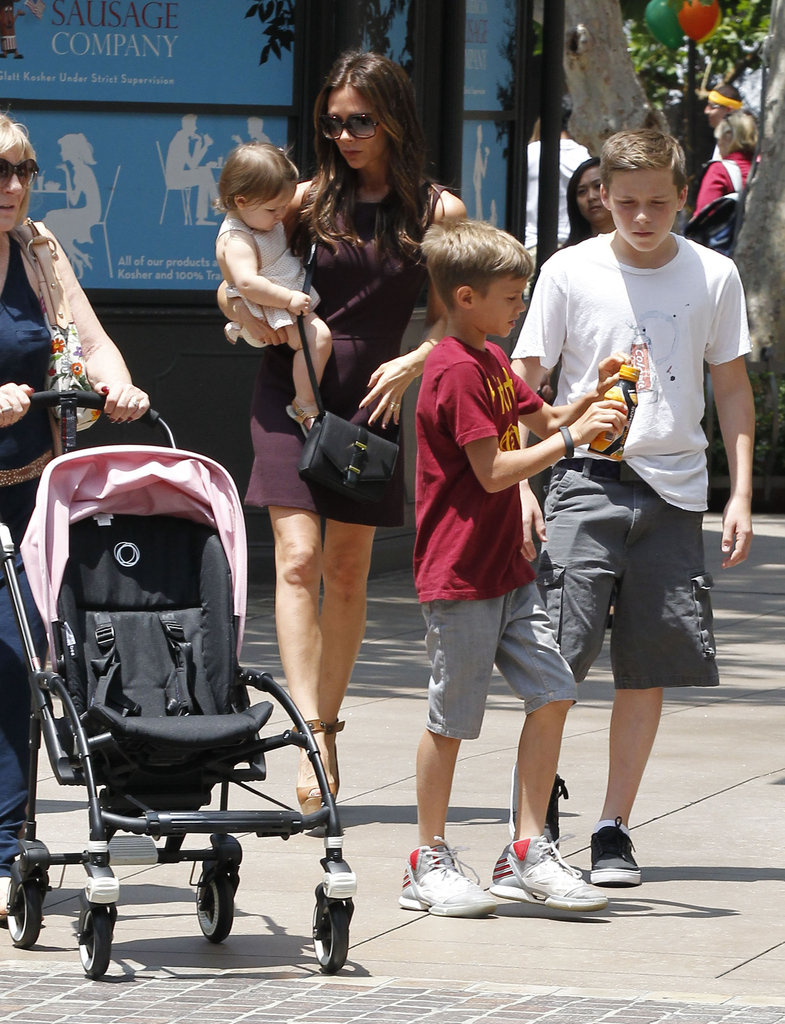 Victoria Beckham and her kids went shopping at The Grove in LA in June.