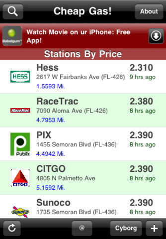 Cheap Gas! (Free)