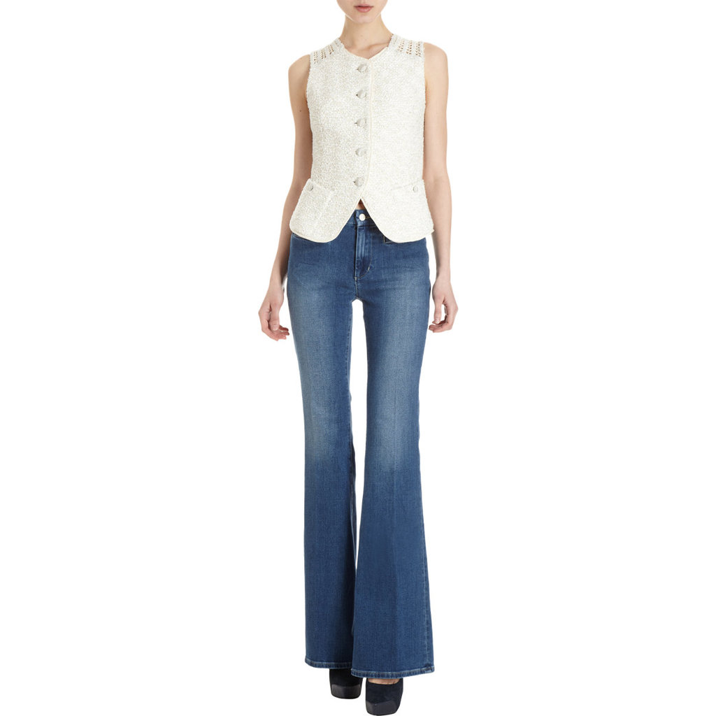 These MiH flared jeans are a favorite UK brand and the flared silhouette is perfect for channeling a cool '70s Summer style.  MiH Jeans Marrakesh-Sweet Indigo Flared Jeans ($198)